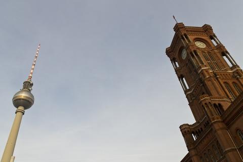 Rotes Rathaus und Fernsehturm
