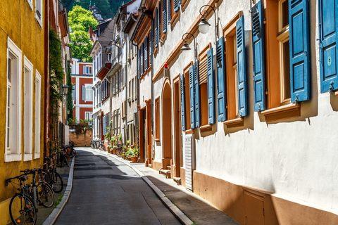 Straße in der Heidelberger Altstadt