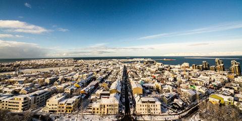 Das eingeschneite Reykjavík