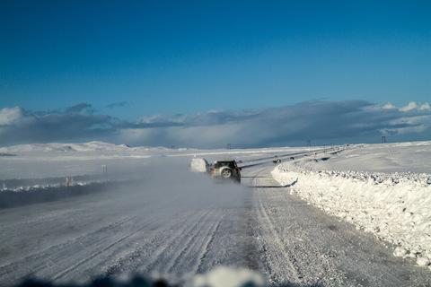 Verschneite Ringstraße