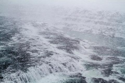 Schneeeinbruch Gullfoss