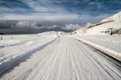 Schnee auf der Ringstraße
