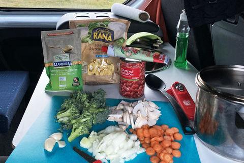 Zubereitung unserer ersten One-Pot-Pasta