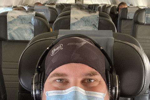 Fast leerer Flug von Frankfurt nach Keflavik