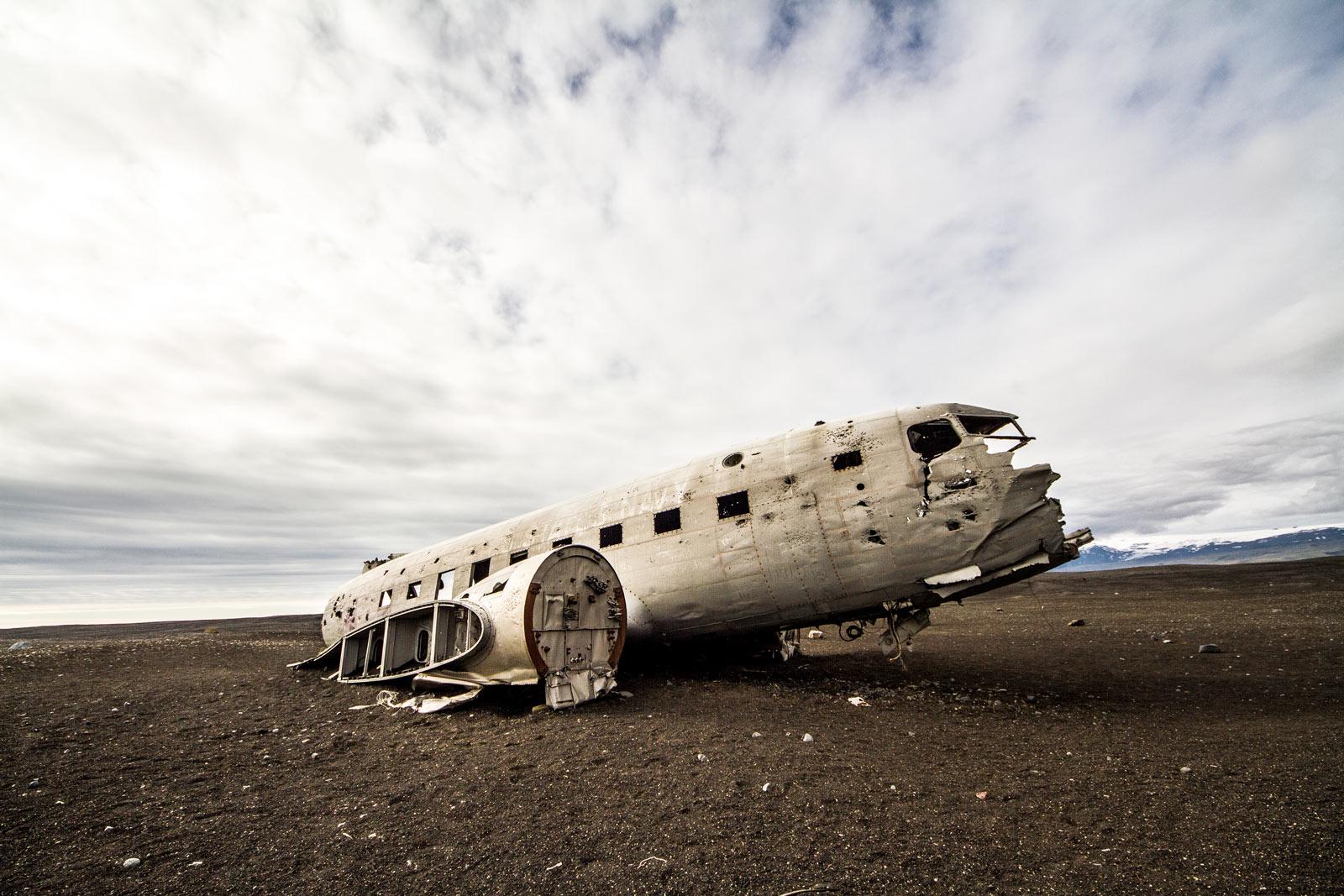 Karte Island Flugzeugwrack.Auf Der Ringstrasse Nach Vik Nightside
