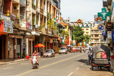 Straßenzug in Phnom Penh