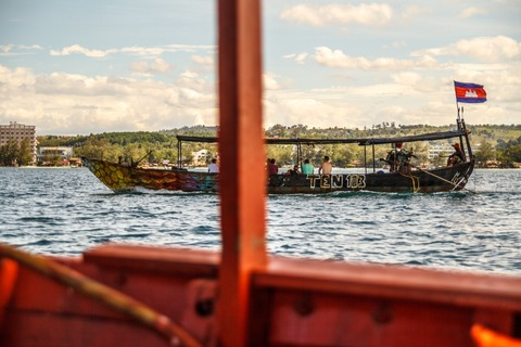 Boot vor Otres Beach