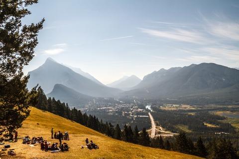 Aussicht vom Cascade Mountain auf Banff