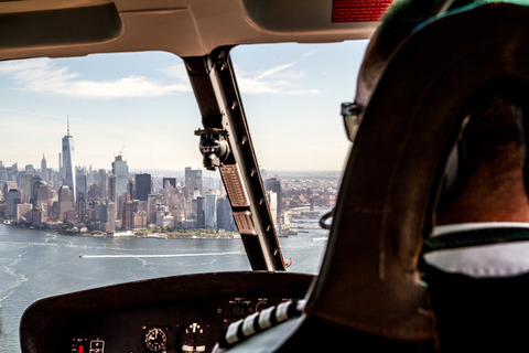 Downtown Manhattan aus dem Helikopter